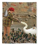 Feeding A Multitude Fleece Blanket