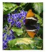 Feeding Butterfly Fleece Blanket