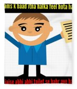 Feeling After Exams Fleece Blanket