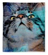 Feline Focus Fleece Blanket