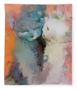 Feline Love Fleece Blanket