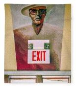 Fellini's Exit - Nola Fleece Blanket