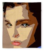 Female Expressions Xlviii Fleece Blanket