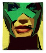 Female Expressions Xv Fleece Blanket