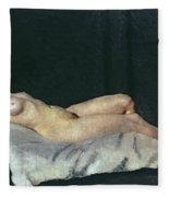 Female Figure Lying On Her Back Fleece Blanket