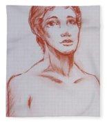 Female Model 10 Fleece Blanket