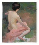 Female Nude Fleece Blanket