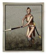 Female Pike Guard - Warrior Fleece Blanket