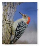 Female Red-bellied Woodpecker Fleece Blanket
