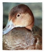 Female Redhead Duck Fleece Blanket