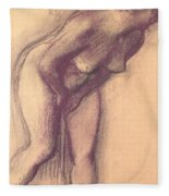 Female Standing Nude Fleece Blanket