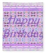 Feminine Lavender Birthday Card Fleece Blanket