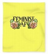 Feminist Af Fleece Blanket