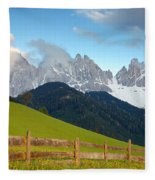 Fence At Val Di Funne Fleece Blanket