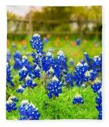 Fence Me In With Flowers Fleece Blanket