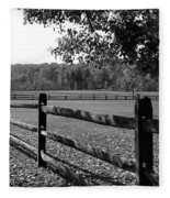Fence Perspective Fleece Blanket