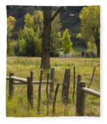 Fence Posts Fleece Blanket