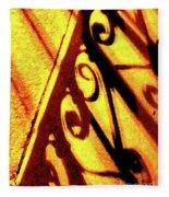 Fence Shadows 5 Fleece Blanket