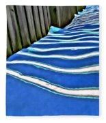 Fence Shadows Fleece Blanket