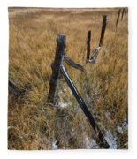 Fence To Nowhere Fleece Blanket