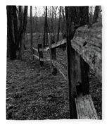 Fence To Nowhere Fleece Blanket