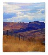 Fence Views Wyoming Color Fleece Blanket