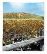 Fence With A View Fleece Blanket