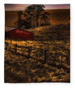 Fencelines Fleece Blanket