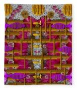 Fences Around Love In Oriental Style Fleece Blanket