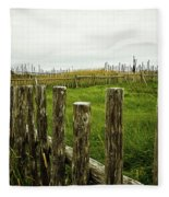 Fences In A Stormy Light Fleece Blanket