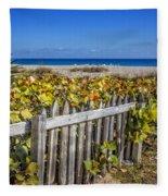 Fences On The Dunes Fleece Blanket