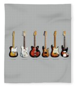 Fender Guitar Collection Fleece Blanket