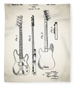 Fender Precision Bass Patent 1952 Fleece Blanket