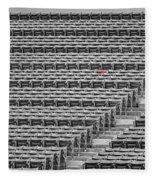 Fenway Park Red Chair Number 21 Bw Fleece Blanket