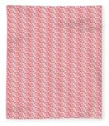 Fermat Spiral Pattern Effect Pattern Red Fleece Blanket