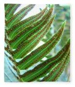 Fern Art Print Green Forest Ferns Baslee Troutman Fleece Blanket