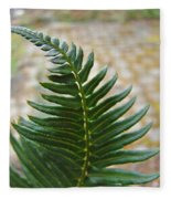 Fern Art Prints Green Garden Fern Branch Botanical Baslee Troutman Fleece Blanket
