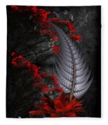 Silver Fern  Fleece Blanket