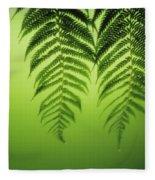 Fern On Green Fleece Blanket