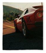 Ferrari 288 Gto At Sunset - 5 Fleece Blanket