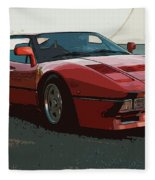 Ferrari 288 Gto - Powerslide Fleece Blanket