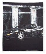 Ferrari 348 Gtr Testarrossa Fleece Blanket