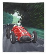Ferrari 375 F1 Fleece Blanket