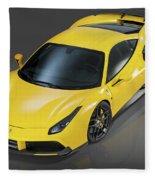Ferrari 488 Fleece Blanket