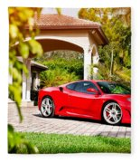 Ferrari F430 On Adv1 Wheels 2 Fleece Blanket