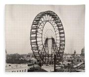 Ferris Wheel, 1893 Fleece Blanket