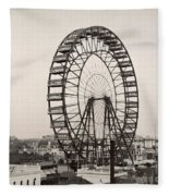 Ferris Wheel, 1893 Fleece Blanket