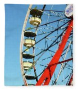Ferris Wheel Closeup Fleece Blanket