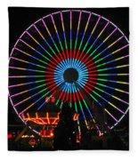 Ferris Wheel In Wildwood New Jersey Fleece Blanket