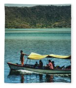 Ferry - Lago De Coatepeque - El Salvador I Fleece Blanket